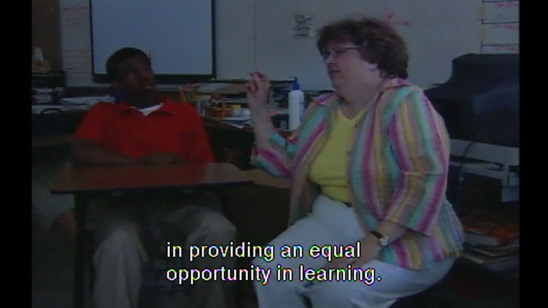 Still image from: Equal Access in the Classroom