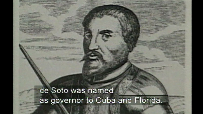 Still image from: Hernando De Soto: 1501-1542