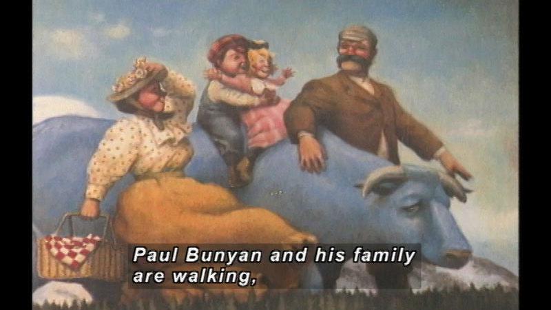 Still image from Paul Bunyan