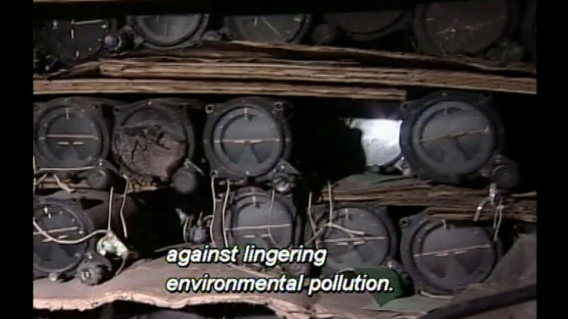 Still image from Restoring The Land: Hazardous Waste Management