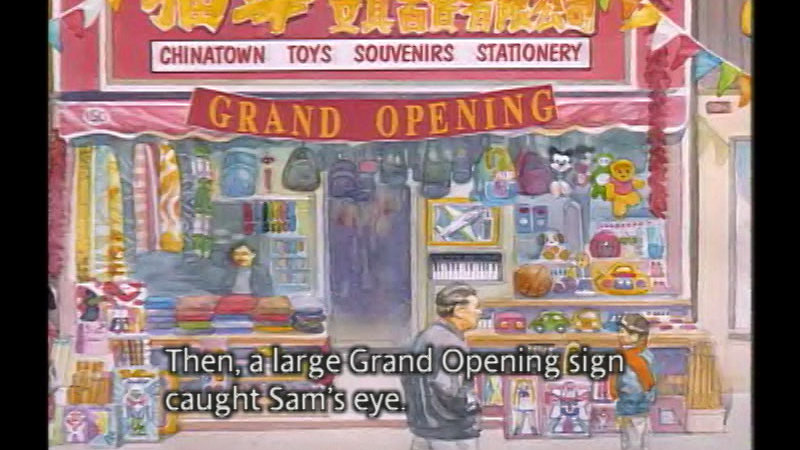 Still image from: Sam And The Lucky Money