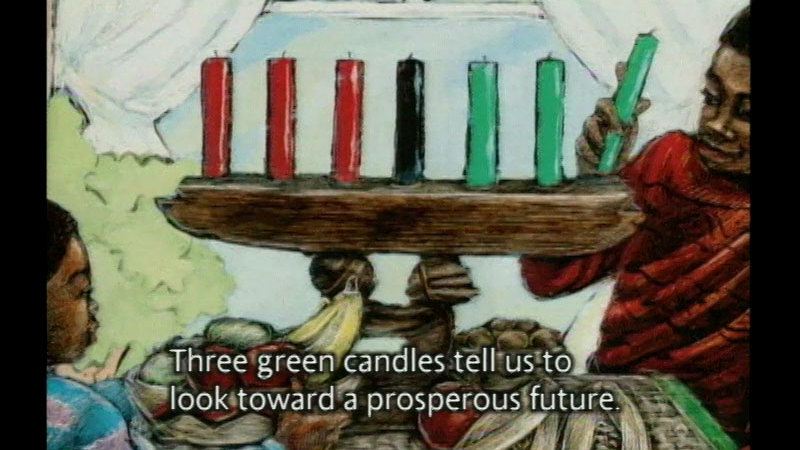 Still image from: Seven Candles For Kwanzaa