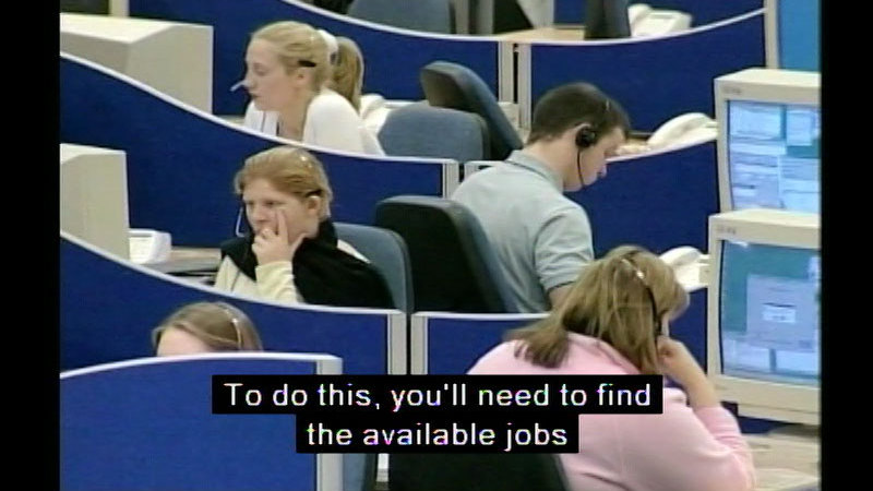 Still image from Job Seeking Solutions For Young People (Student Version)