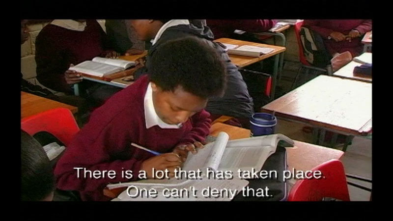 Still image from Testing Hope: Grade 12 In The New South Africa