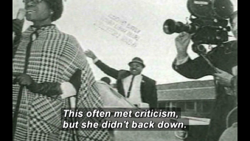 Still image from Shirley Chisholm: First Black American Congresswoman