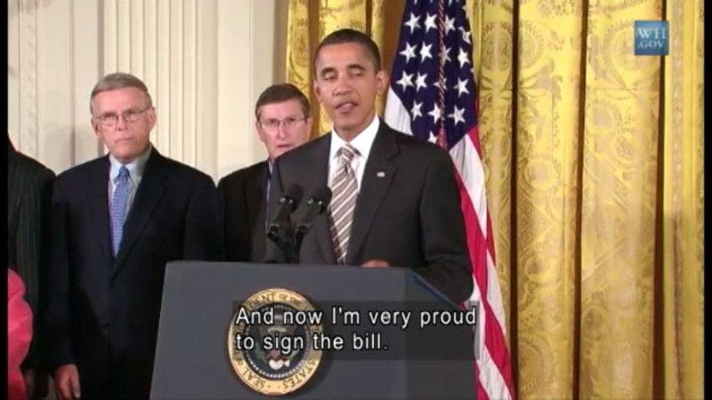 Still image from President Obama Signs 21st Century Communications & Video Accessibility Act