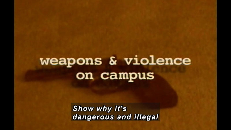 Still image from: Real Life Teens: Weapons And Violence On Campus