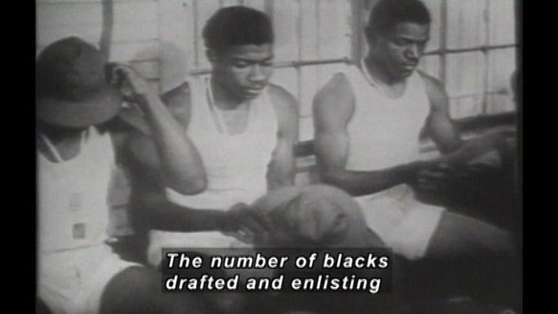 Still image from: America's Black Soldiers