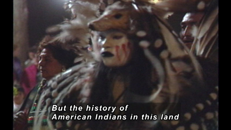 Still image from: A History Of American Indian Achievement: American Indians Populate The North American Continent