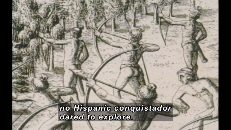 Still image from: A History of Hispanic Achievement in America: Spanish American Exploration and Colonization