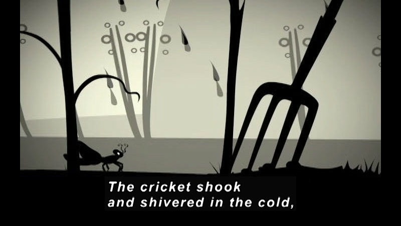 Still image from: The Ant & The Cricket