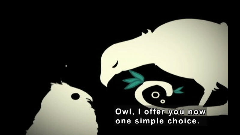 Still image from: The Owl & His Voice