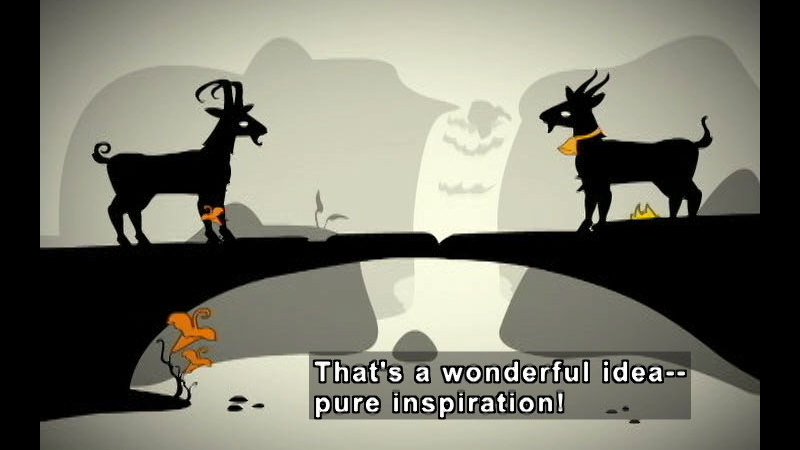 Still image from: Two Goats & A Bridge