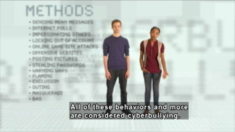 Still image from: I Was Cyberbullied