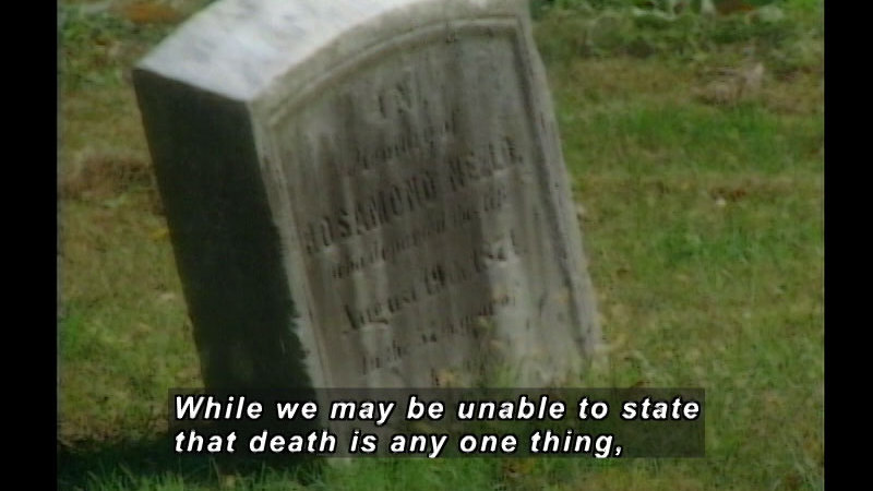 Still image from: Death: A Personal Understanding-What Is Death?