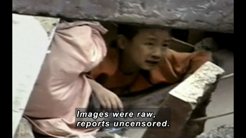 Still image from: China's Earthquake: The People In The Pictures