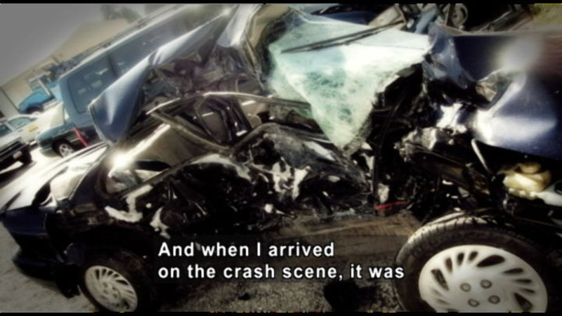 Still image from: Danger Behind The Wheel: The Facts About Distracted Driving