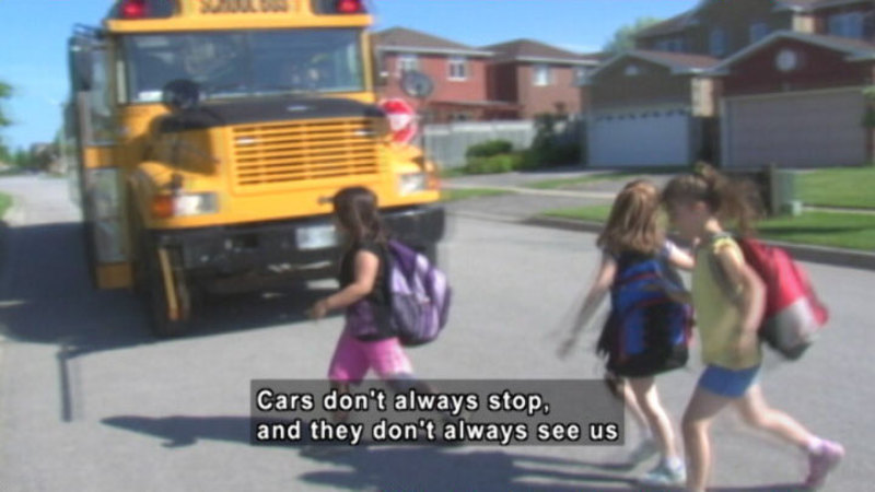 Still image from: Getting To School Safely