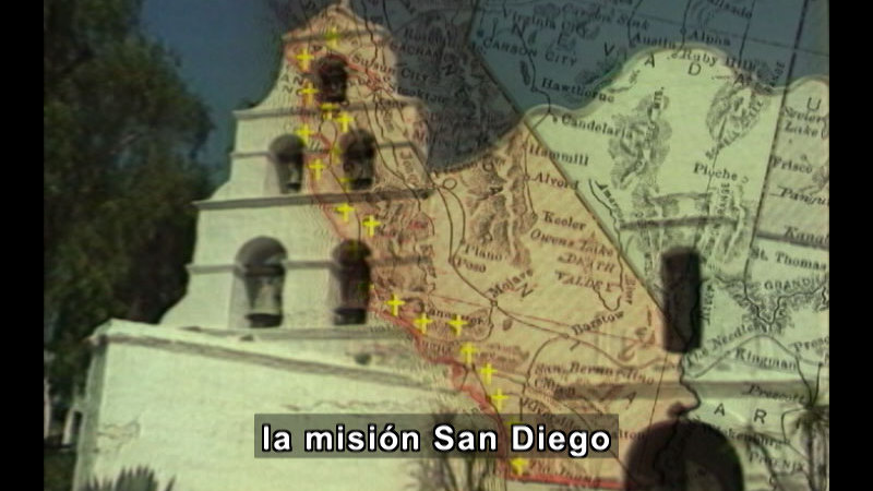 Still image from Missions Of California Series: Mission San Diego De Alcala (Spanish)