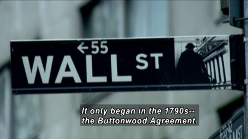 Still image from: Wall Street: The Growth Of Wall Street