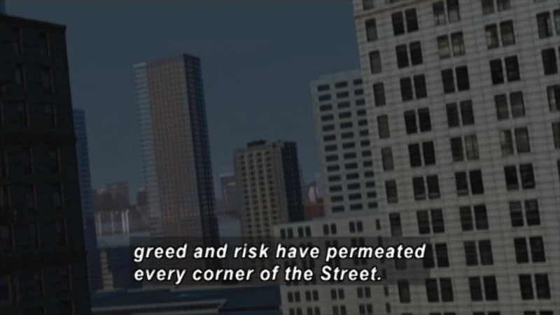 Still image from Wall Street: Wall Street Never Sleeps