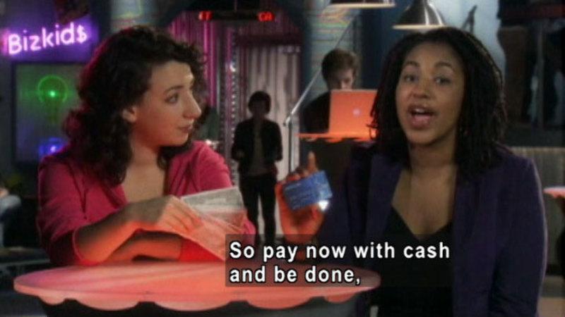Still image from: Biz Kid$: Cash And Credit