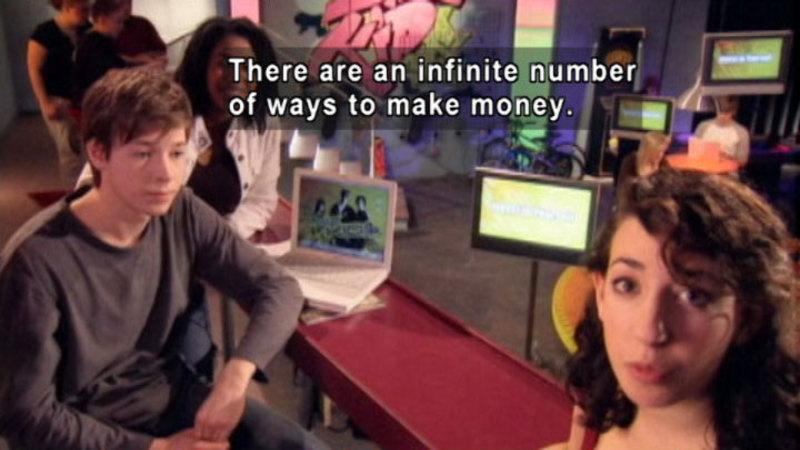 Still image from: Biz Kid$: How Do You Get Money?