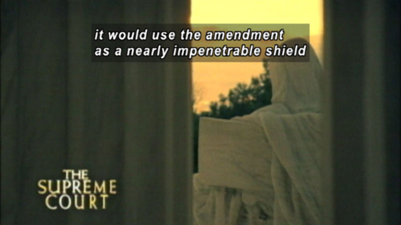 Still image from: The Supreme Court: A New Kind Of Justice
