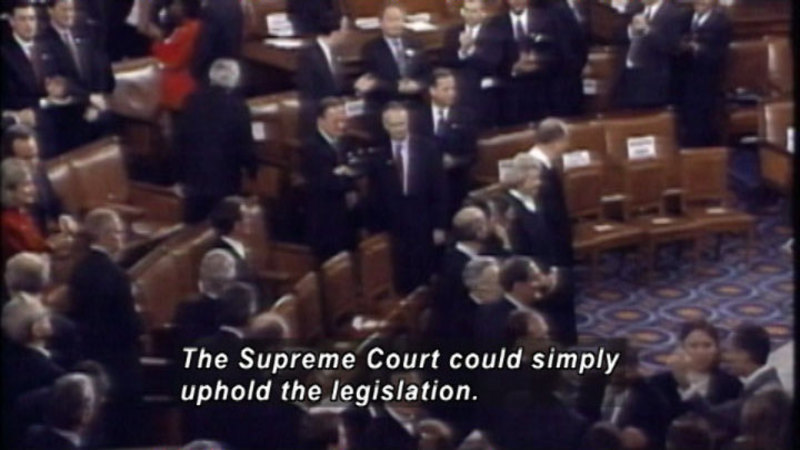 Still image from The Supreme Court: The Rehnquist Revolution