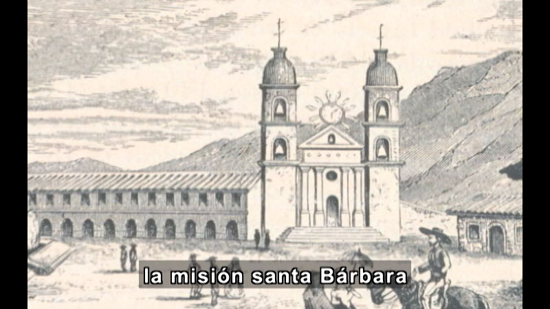 Still image from Missions Of California Series: Mission Santa Barbara (Spanish)