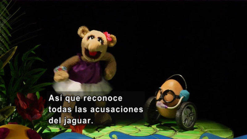 Still image from The Parakeet Show – Friendship (Spanish)