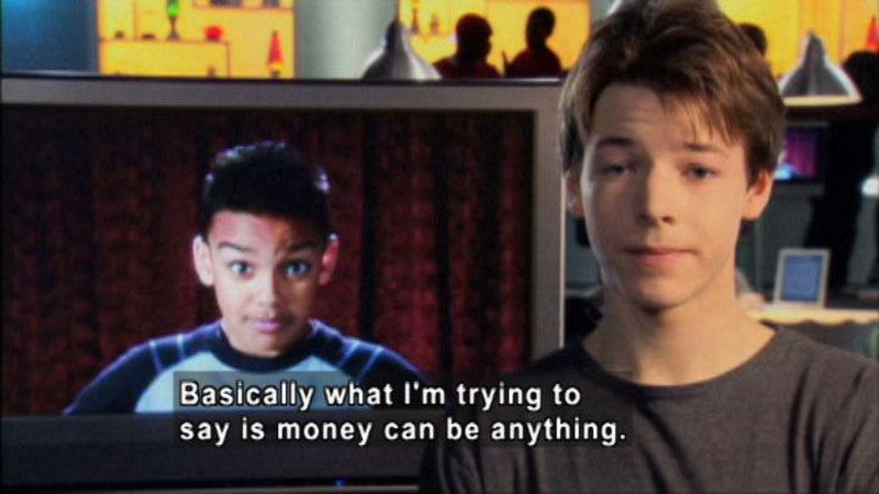 Still image from: Biz Kid$: What Is Money?