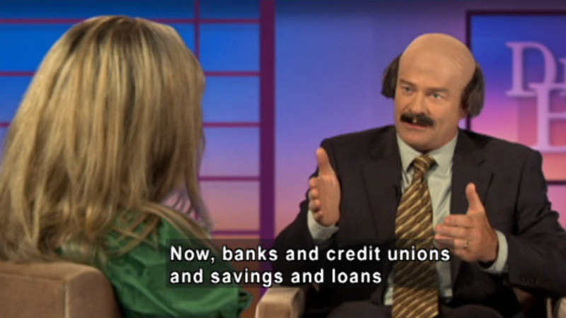 Still image from: Biz Kid$: Financial Institutions--All The Same?
