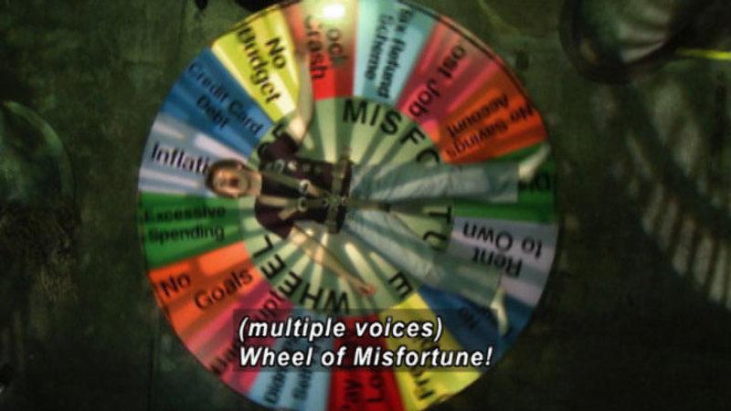 Still image from Biz Kid$: Wheel Of Misfortune