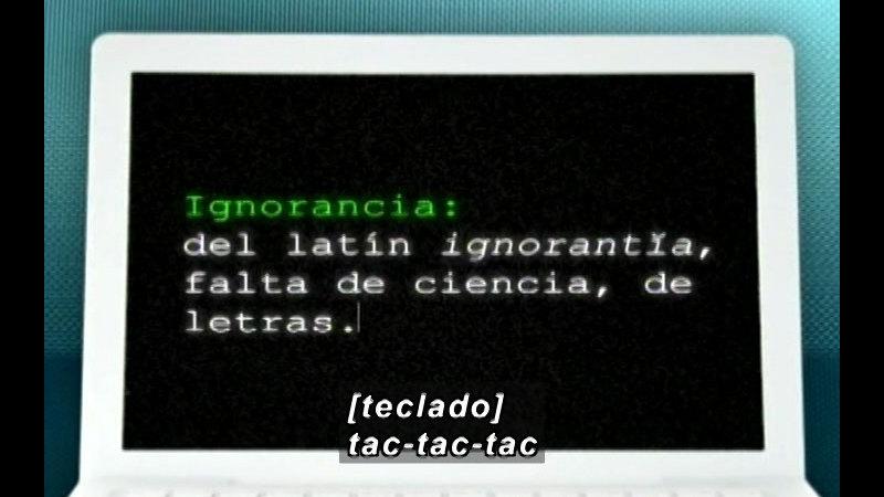 Still image from: Vox Populi-Ignorance (Spanish)
