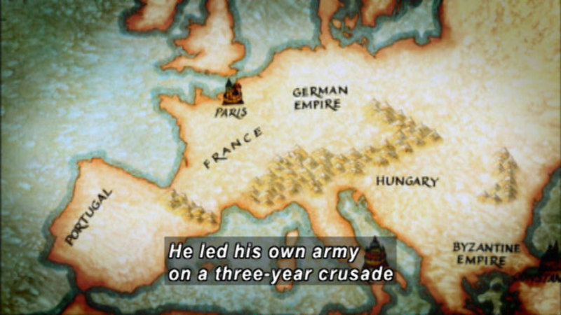 Still image from: The Crusades: Crescent and the Cross
