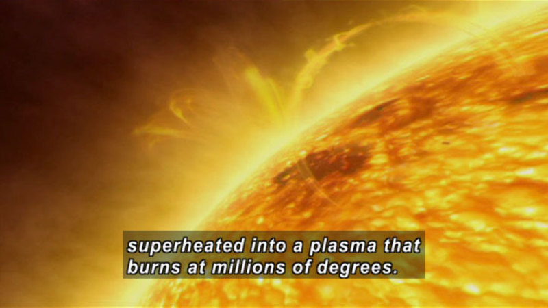 Still image from The Universe: Secrets of the Sun