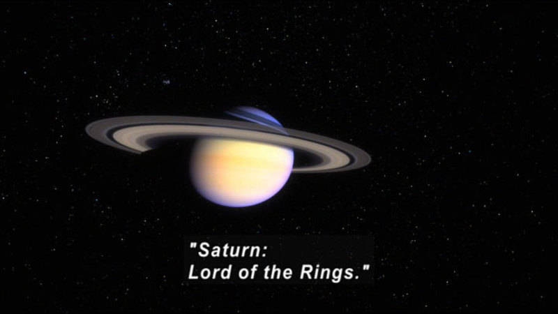 Still image from The Universe: Saturn, Lord of the Rings