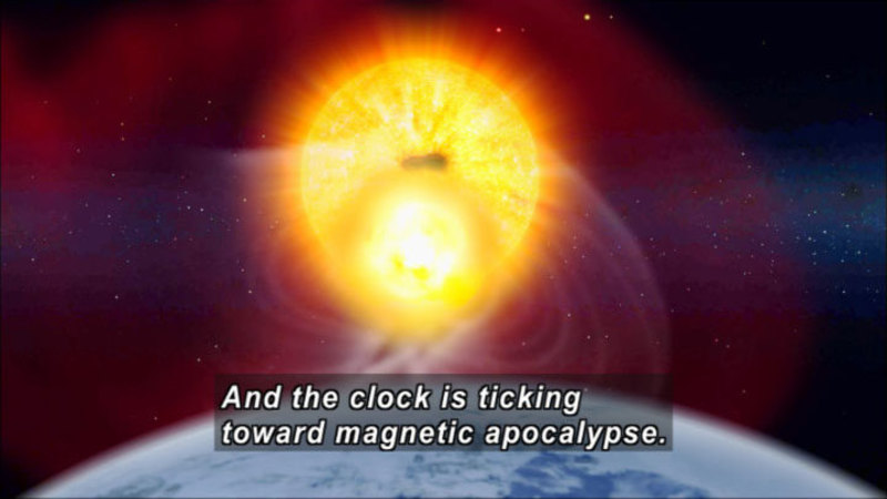 Still image from The Universe: Magnetic Storm