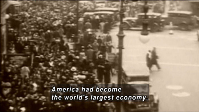 Still image from Wall Street & The Growth Of America