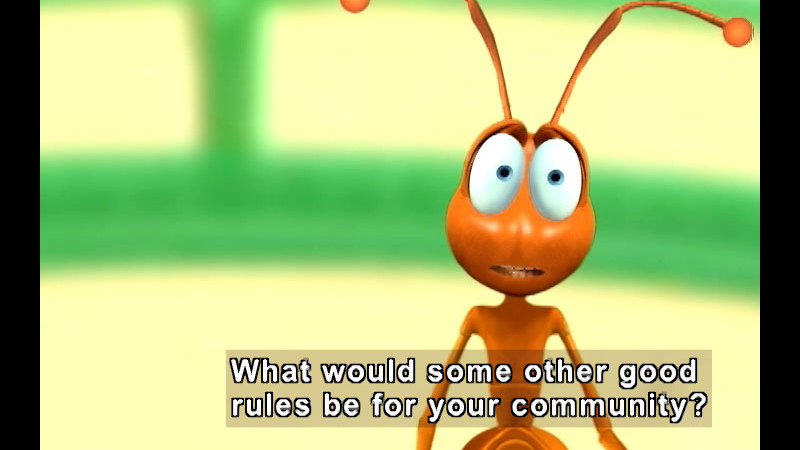 Still image from: Unity In Community: The Ant Show