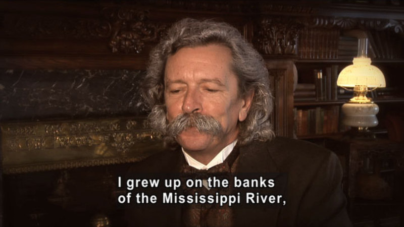Still image from: Mark Twain: The First Truly American Writer