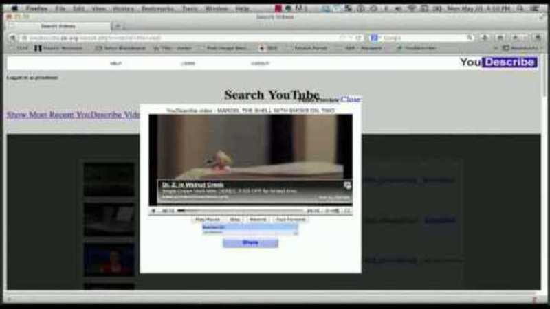 Still image from: VDRDC Webinar 3 - YouDescribe – How You Can Add Audio Description to Any YouTube Video!