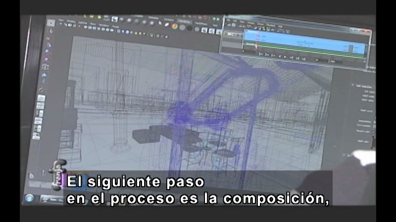 Still image from Franja Metro: Animation and 3D (Spanish)
