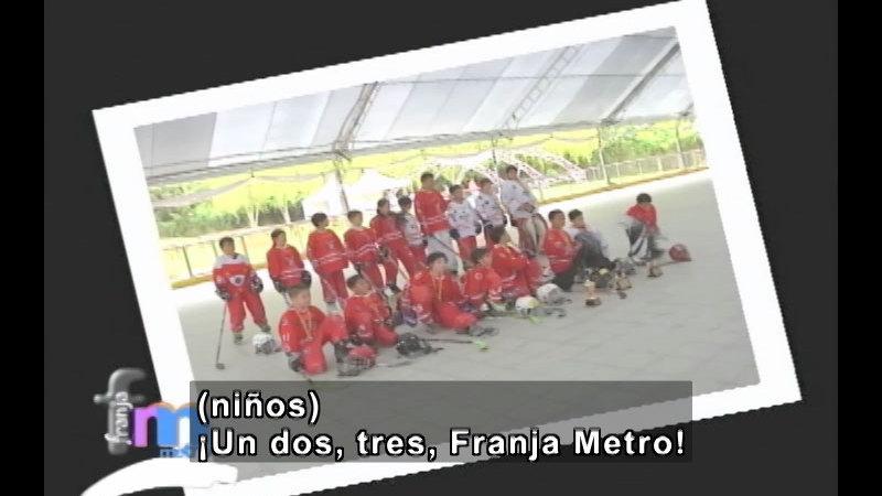 Still image from Franja Metro: Hockey and Judo (Spanish)