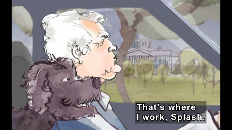 Still image from: My Senator and Me: A Dog's-Eye View of Washington, D.C.