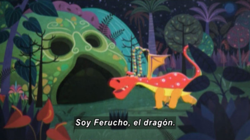 Still image from Medialuna and the Magic Nights: The Hungry Dragon (Spanish)