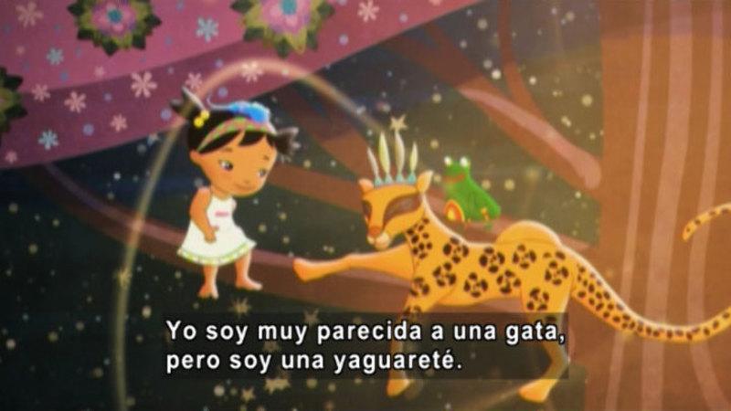 Still image from Medialuna and the Magic Nights: Princess Yagua (Spanish)