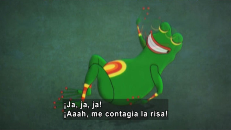 Still image from: Medialuna and the Magic Nights: The River of Laughter (Spanish)