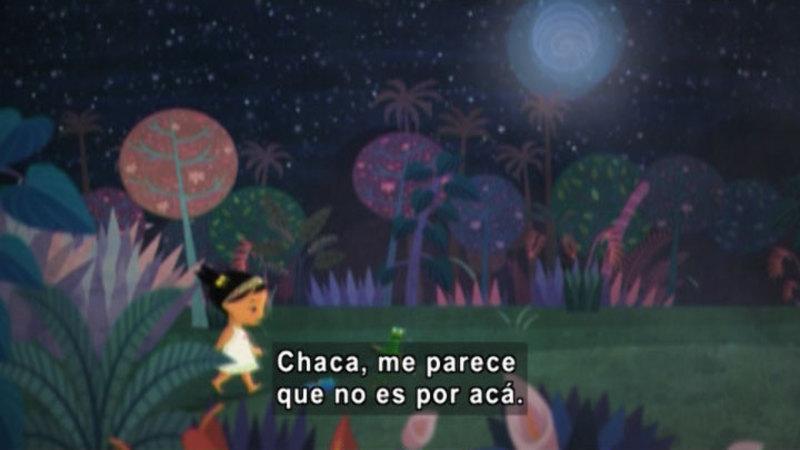 Still image from Medialuna and the Magic Nights: Full Moon Night (Spanish)